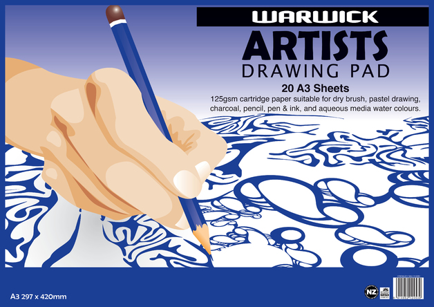 Warwick: Artists Drawing Pad (20 Sheets)
