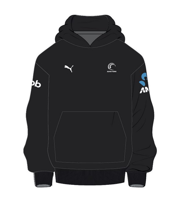 Puma Silver Ferns Youth Sponsor Hoody | Black (176)
