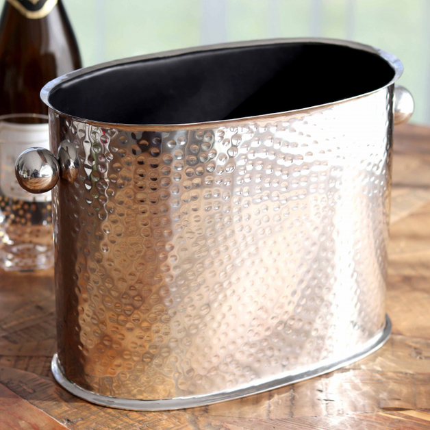 Old Mill Road: Hammered Metal Chiller Bucket