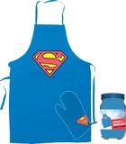 Superman - Logo Apron and Oven Mitt Set in Canister