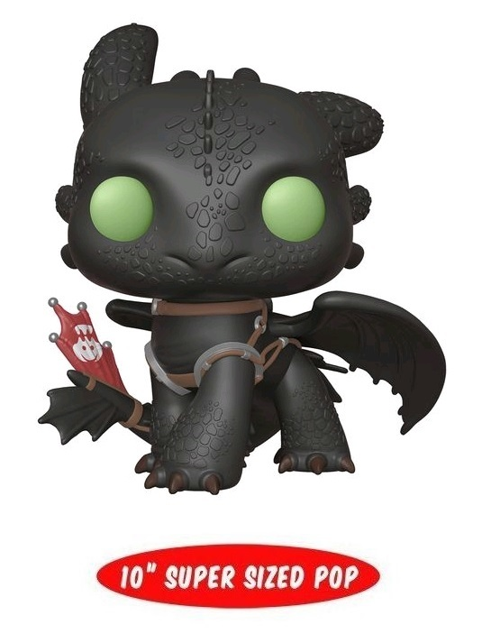 "How To Train Your Dragon 3: Toothless - 10"" Super Sized Pop! Vinyl Figure"