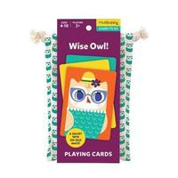 Mudpuppy: Wise Owl - Playing Cards To Go