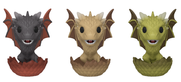 Game of Thrones: Drogon, Rhaegal & Viserion (Hatching) - Pop! Vinyl 3-Pack