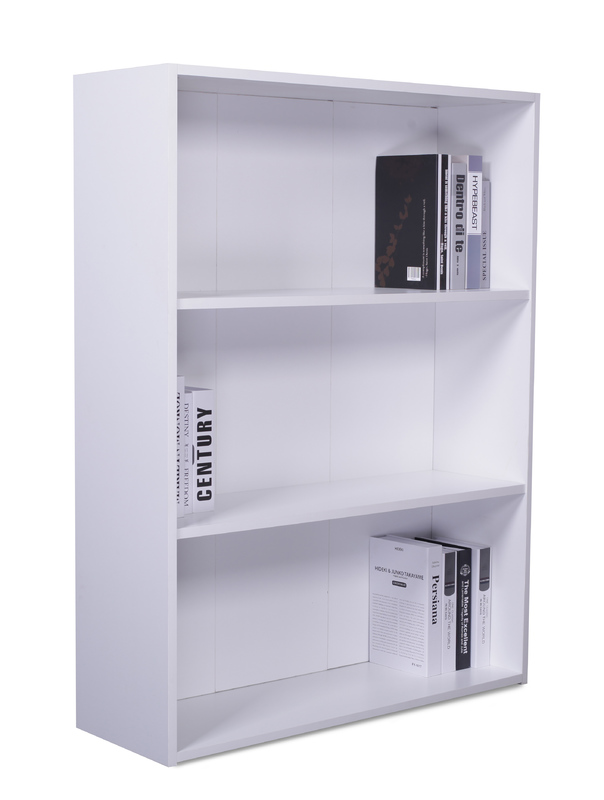 2 Shelf Bookcase - White