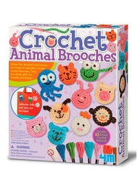 4M: Craft Crochet Animal Brooches
