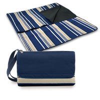 Outdoor Blanket Tote - Blue Stripe/Navy