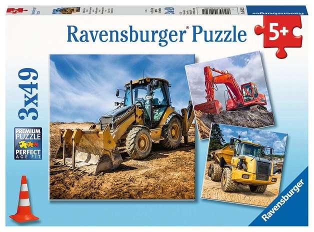 Ravensburger: 3 x 49-Piece Puzzle Set - Digger at Work!