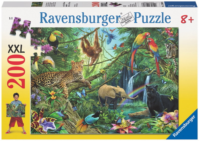 Ravensburger 200 Piece Jigsaw Puzzle - Animals in the Jungle image