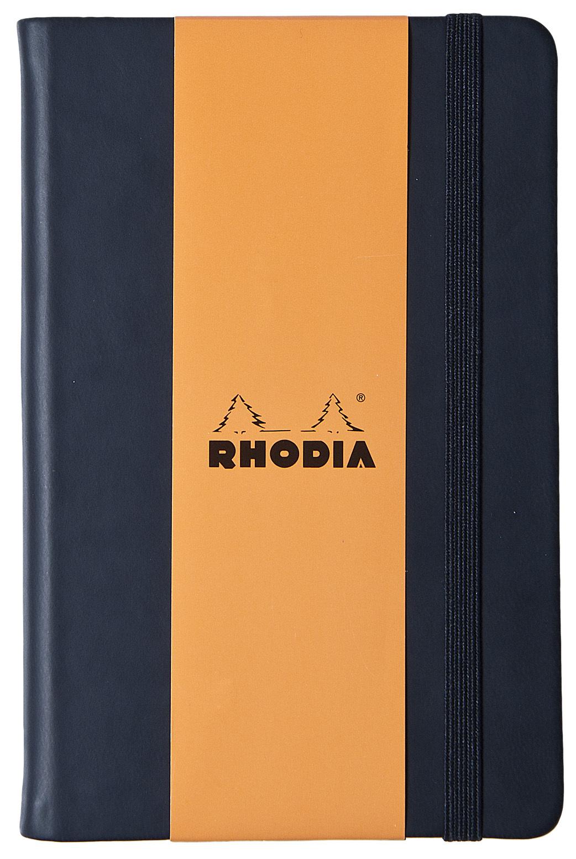 Rhodia Webnotebook A5 Leatherette with Elastic Closure (Black) image