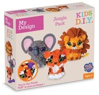 My Design: 3D Mini Jungle Animals Plushcraft Kit