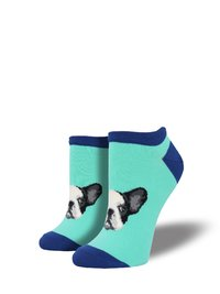Socksmith: Womens Frenchie Connection Ankle Socks - Aquamarine