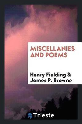 Miscellanies and Poems by Henry Fielding image