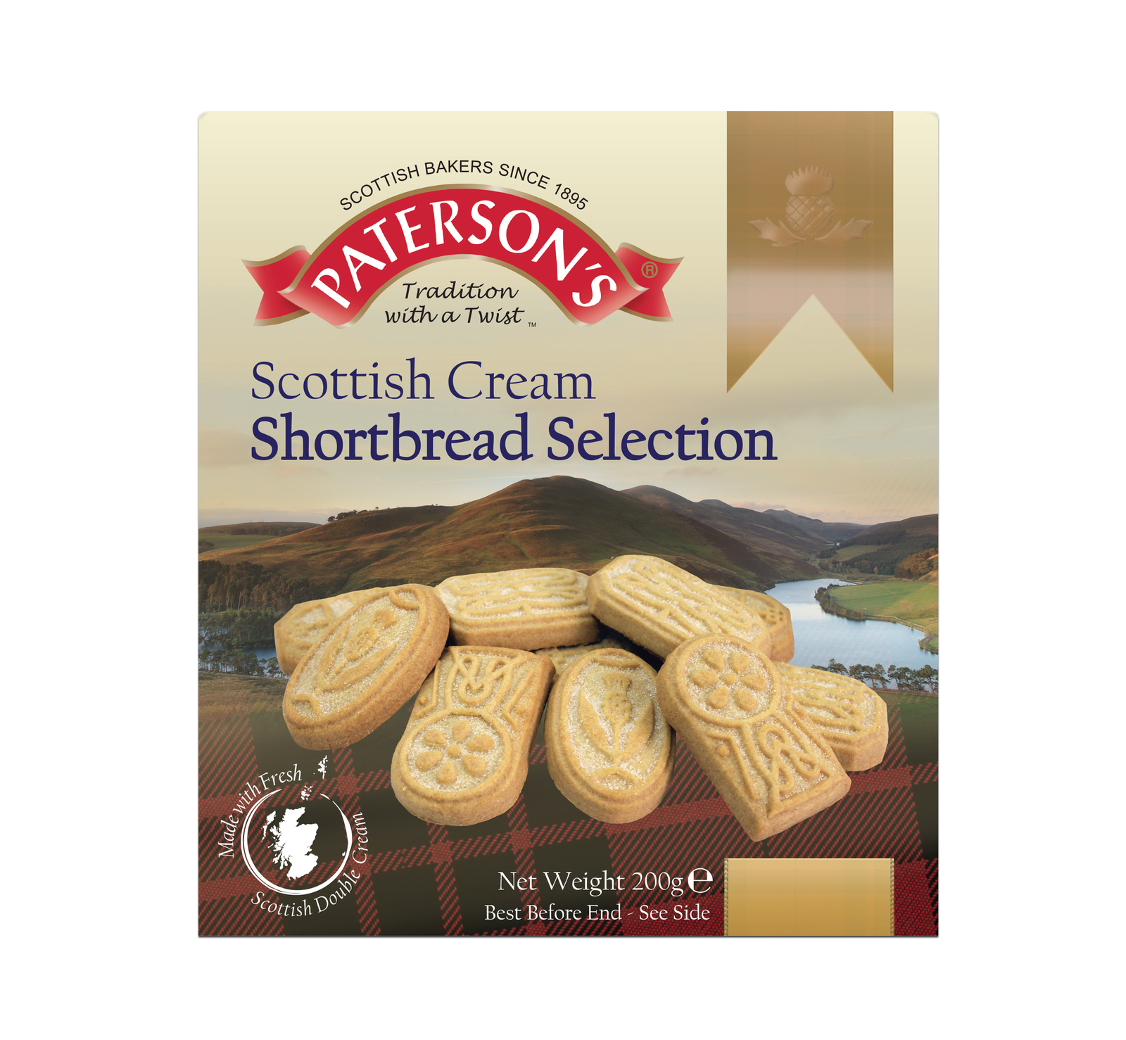 Patersons Scottish Cream Shortbread Selection 200g image