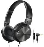 Philips DJ Style On-Ear Headphones With Mic (Black)