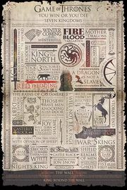 Game Of Thrones Infographic Wall Poster (431)