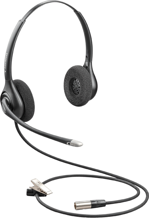 Plantronics Supraplus Wideband HW261N-DC Headset - Dual Channel TA6MLX Connector