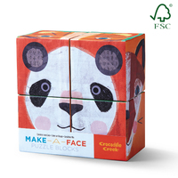 Crocodile Creek: Block Set Make-A-Face - 4pc
