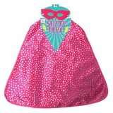 Supergirl Cape & Mask Set - Pink Star