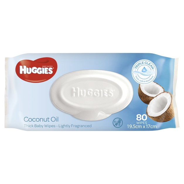 Huggies Baby Wipes - Coconut (80 Wipes)