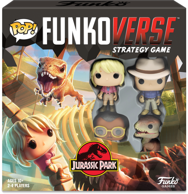 Funkoverse: Jurassic Park - Board Game (4-Pk)