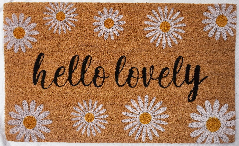 Natural Fibre Doormat - Hello Lovely image