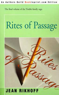 Rites of Passage by Jean Rikhoff image