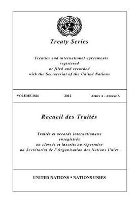 Treaty Series 2826 (English/French Edition) by United Nations Publications image