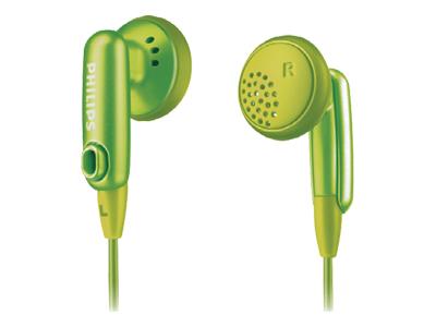 Philips SHE2616 Green Gummy Headphones for Ipod image