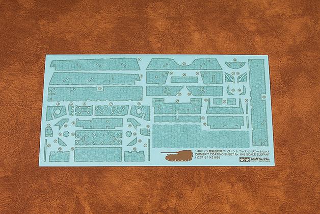 Tamiya: Zimmerit Coating Sheet - 1/48 Scale Elefant