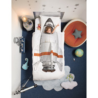 Snurk: Quilt Cover Set Rocket - Single