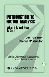 Introduction to Factor Analysis by Jae-on Kim