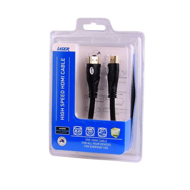 LASER HDMI Cable V2.0 Gold 1080p (2m)