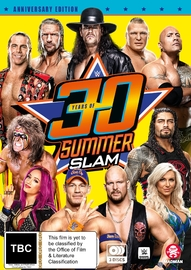 Wwe: 30 Years Of Summerslam on DVD