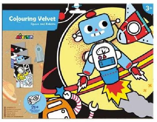 Avenir: Colouring Velvet Kit - Space & Robots