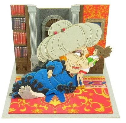 Miniatuart Ghibli Series: Spirited Away: Yubaba & Chihiro Papercraft Kit