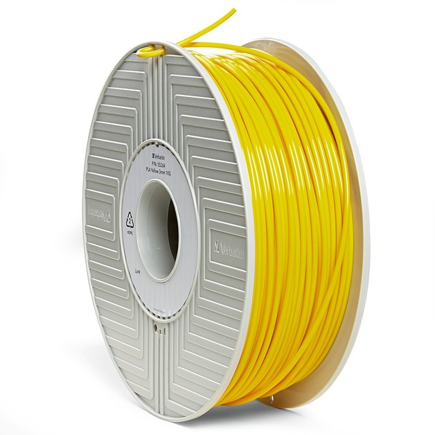 Verbatim 3D Printer PLA 3.00mm Filament - 1kg Reel (Yellow)