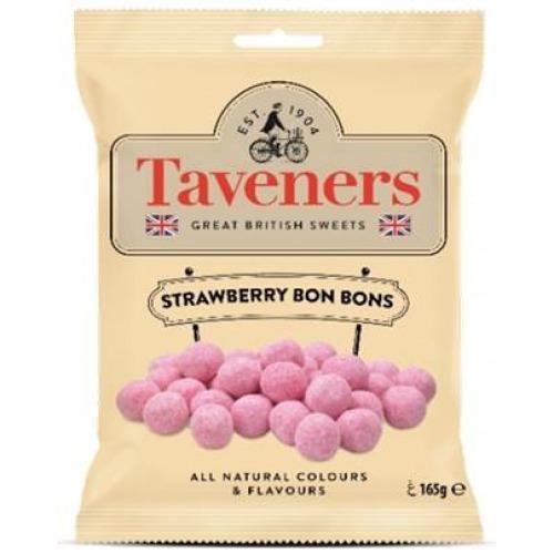 Taveners Great British Sweets Strawberry Bon Bons (165g)