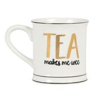Metallic Monochrome Tea Makes Me Wee Mug