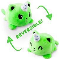 TeeTurtle: Reversible Mini Plush - Kittencorn (Green)