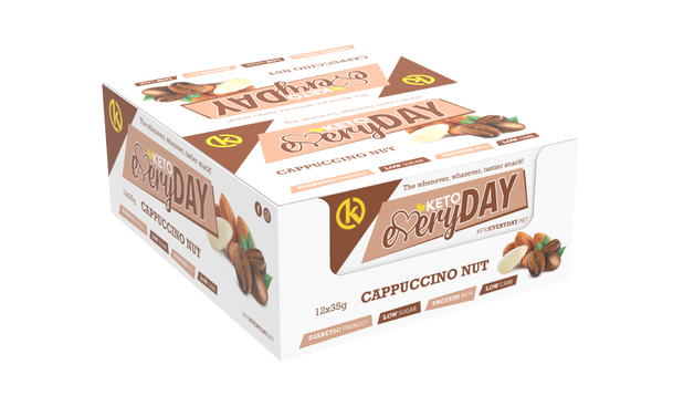 Keto Nutrition: Everyday Low-Carb Cappuccino Nut Bars (Box of 12)
