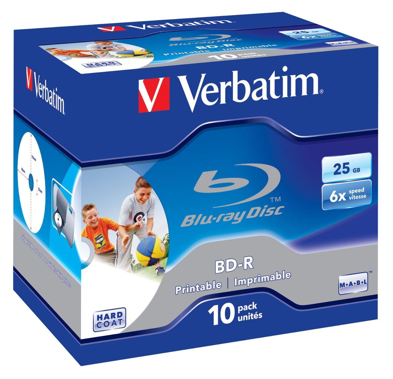 Verbatim BD-R 25GB 6X Wide White Inkjet 10pk JC image