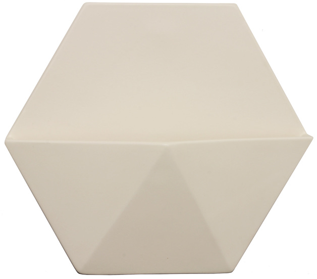 Decor Living: Large Hex Wall Planter - White