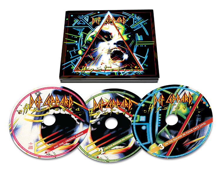 Hysteria [2017 Remastered] Deluxe Edition (3CD) by Def Leppard image