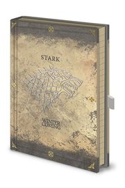 Game of Thrones: Premium Notebook A5 Stark Worn