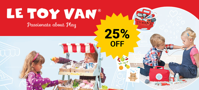25% off Le Toy Van!