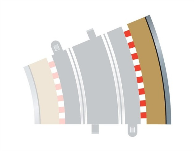 Scalextric 22.5 Degree Radius 3 Curve Outer Track Borders
