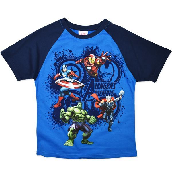 Marvel Avengers Assemble Blue T-Shirt (Size 12)