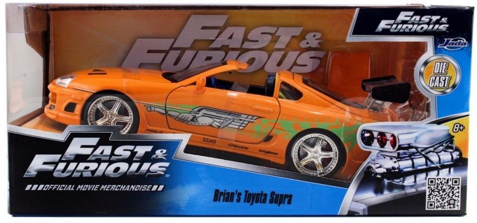 Jada: 1/24 Brian's Toyota Supra (Orange) - Diecast Model image