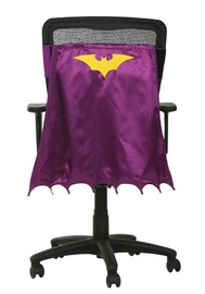 Batgirl Yellow and Lavender Chair Cape