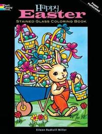 Happy Easter Stained Glass Coloring Book by Eileen Miller image